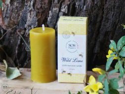 Wild Lime 100% Beeswax Candle